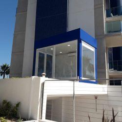 oficina modular de vigilancia en edificio abc