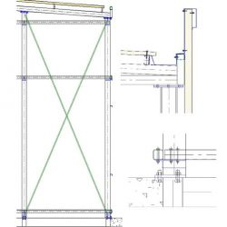 Detalle constructivo: estructura de gimnasio