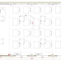 aulas modulares 60m2 altura especial plano